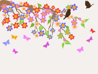 spring flower tree background