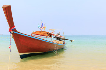 Long tail boat in island