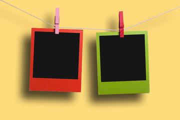 Two color polaroid frames