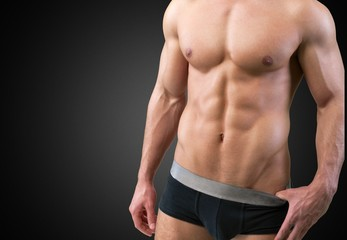 Underwear. Masculine beauty series