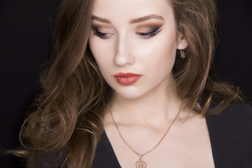 beautiful young woman with make-up