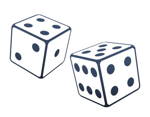 Two dices vector illustration