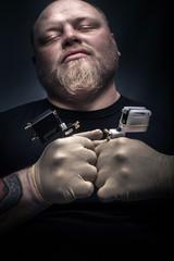Man tattoo artist