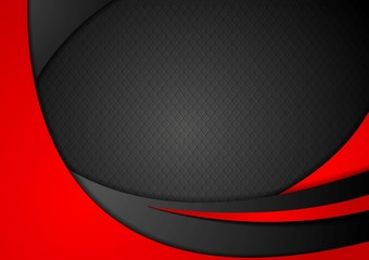 Red and black abstract corporate waves