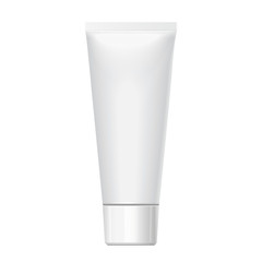 Realistic white tube. For cosmetics