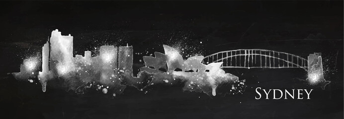 Silhouette chalk Sydney