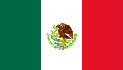 Mexican Flag Wall mural