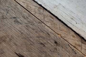 Texture of old wooden table