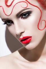 Close up pink of fashion woman