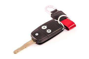 Car key remote isolated with white background