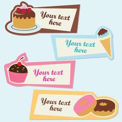 Sweet vector sticker set