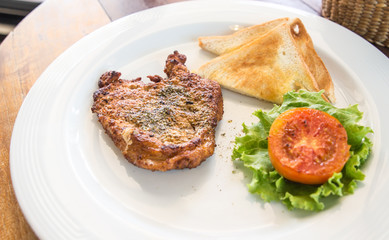 Fried pork chop, mashed potato