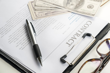 sign contract document.money