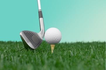 Golf. Golf ball & driver