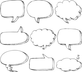 Hand drawn comic speech bubble
