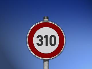 Verkehrsschild Tempo 310