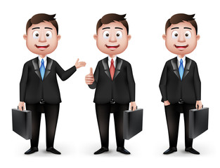 Set of Realistic Smart Different Professional Characters