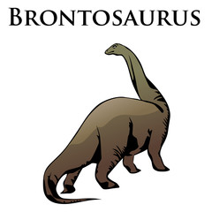brontosaurus dinosaur colored
