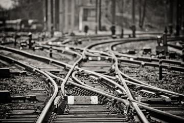 Rail tracks Wall mural