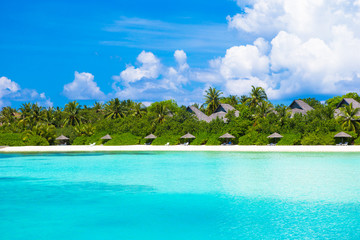 Beautiful white sand beach and Indian ocean