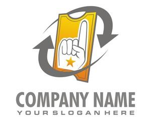 ticket logo image vector