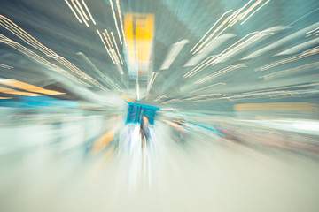 blurred motion background : Traveler at airport terminal Check-i
