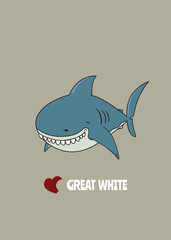 Love Great white shark