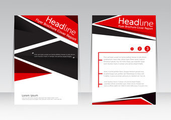 Vector design for Cover brochure flyer magazine in A4 size