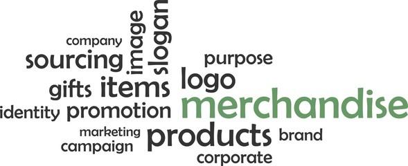 word cloud - merchandise