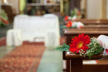 flower wedding decoration church