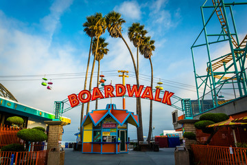 Entrance to the Boardwalk, in Santa Cruz, California. Wall mural
