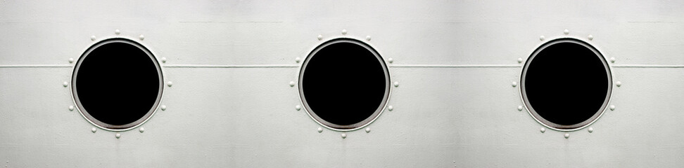 Triple Brass porthole, ferry window panorama frame