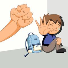 Fototapeta Child abuse, bullying, harassment obraz