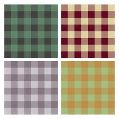 tartan, plaid pattern, seamless vector, set