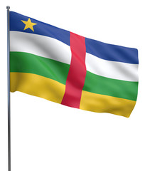 Central Africal Republic Flag Image