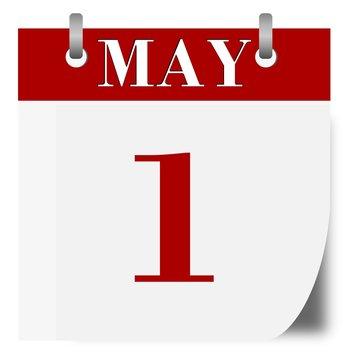 1 May Calendar - illustration
