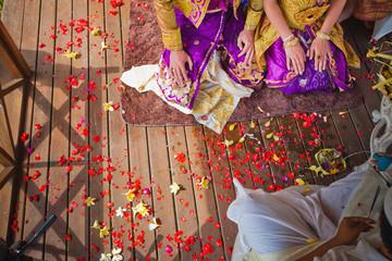 Fotobehang Indonesië balinese wedding ceremony
