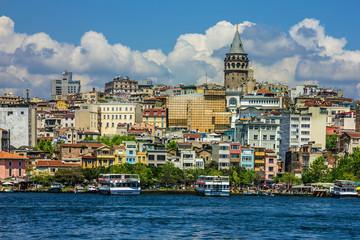 Seafront of Istanbul, Galata tower, Turkey