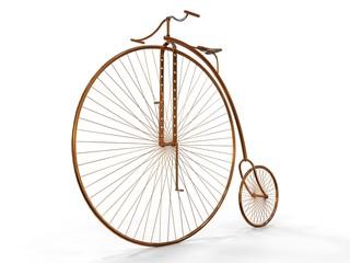Photo sur Aluminium Old Metallic Bicycle