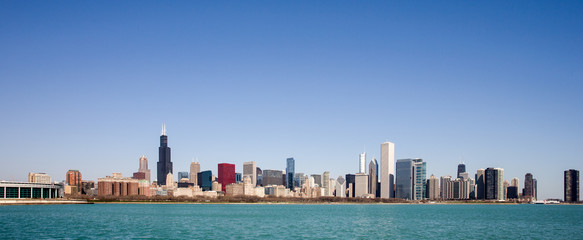 Fotomurales - Chicago Skyline - seen from Lake Michigan