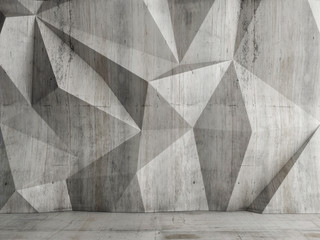 Abstract concrete wall background, 3d illustration