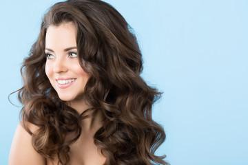 Beautiful smiling brunette