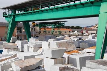 white carrara marble block