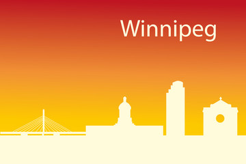 Winnipeg, Canada skyline. Detailed city silhouette. Vector illus