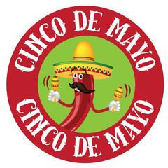 Cinco De Mayo icon chili pepper