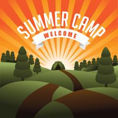 Summer camp burst