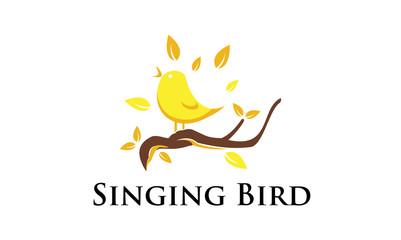 Singing Canary Bird - Logo