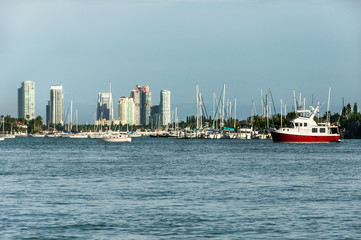 Vista del muelle de Miami en South Beach Florida