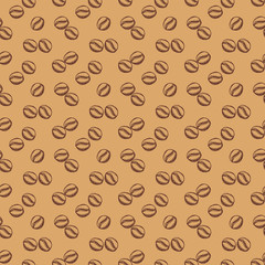 Coffee seamless pattern. Vector background.