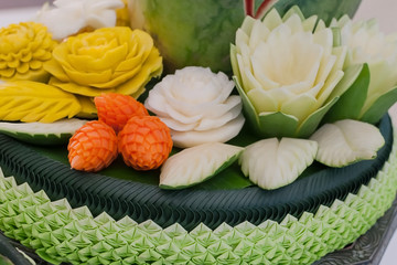 Vegetable and Fruit Carved